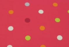 Roze Polka Dots Background Stock Fotografie