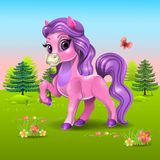 Roze poney Stock Foto