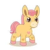 Roze poney Royalty-vrije Stock Afbeeldingen