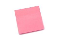 Roze post-it stock afbeelding