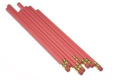 Roze Potloden Stock Foto
