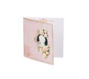 Roze prentbriefkaar Stock Fotografie