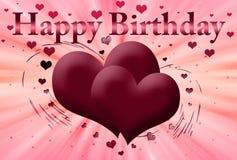 Roze prentbriefkaar Gelukkige verjaardag vector illustratie