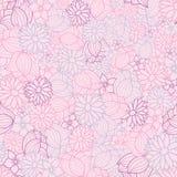 Roze, purpere en blauwe vector bloemen naadloze patroonachtergrond vector illustratie