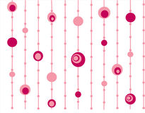 Roze retro cirkelsachtergrond Stock Afbeeldingen