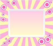 Roze retro frame met cirkels royalty-vrije illustratie