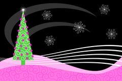 Roze Retro Kerstmis Royalty-vrije Stock Fotografie