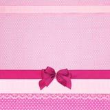 Roze retro stiptextiel Stock Fotografie