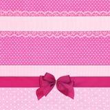 Roze retro stiptextiel Royalty-vrije Stock Afbeeldingen