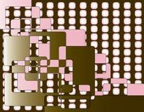 Roze Retro Vierkanten stock illustratie