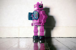 Roze robot Stock Afbeelding