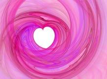 Roze romantisch hart Royalty-vrije Stock Foto's