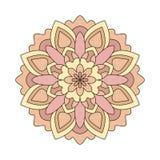 Roze rond ornamentpatroon Royalty-vrije Stock Foto's