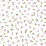 Roze rosebuds Romantisch thema Naadloos patroon royalty-vrije illustratie