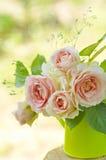 Roze rozenboeket Stock Foto
