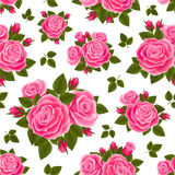 Roze rozenpatroon Royalty-vrije Stock Foto