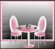 Roze ruimte royalty-vrije illustratie