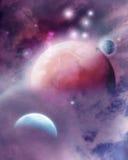 Roze Ruimtedroom Royalty-vrije Stock Afbeeldingen