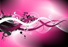 Roze ruw vectorontwerp Stock Fotografie