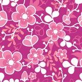 Roze Sakura Kimono Blossom Seamless Pattern Royalty-vrije Stock Afbeeldingen