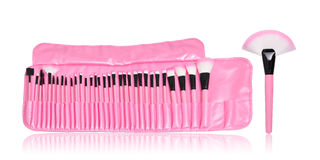Roze samenstellingsborstels Royalty-vrije Stock Foto