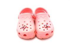 Roze sandals Stock Afbeelding