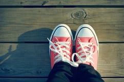 Roze schoenen Royalty-vrije Stock Afbeeldingen
