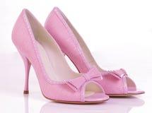 Roze schoenen royalty-vrije stock foto's