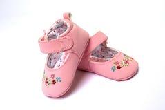 roze schoenen voor baby royalty-vrije stock foto's