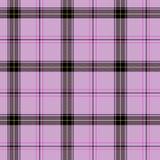 Roze Schots geruite Schotse wollen stof royalty-vrije illustratie