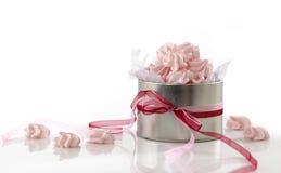 Roze schuimgebakjekoekjes royalty-vrije stock foto