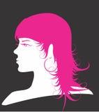 Roze silhouet Stock Afbeeldingen