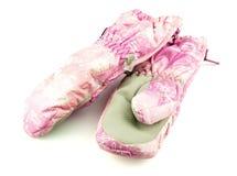 Roze skivuisthandschoenen royalty-vrije stock afbeeldingen
