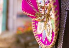Roze Sombrero Royalty-vrije Stock Foto