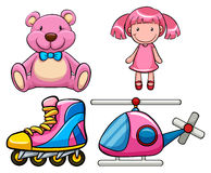 Roze speelgoed royalty-vrije illustratie