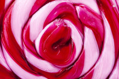 Roze Spiraalvormige Swirly-Lollyclose-up Royalty-vrije Stock Fotografie