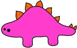 Roze Stegosaurus - kinderachtige tekening Royalty-vrije Stock Foto's