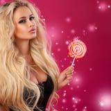 Roze stemming Stock Foto