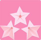 Roze ster Royalty-vrije Stock Foto's