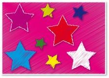 Roze ster vector illustratie