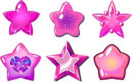 Roze sterren Stock Afbeeldingen