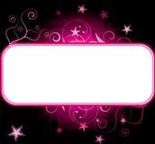 Roze sterren copyspace achtergrond Stock Afbeelding