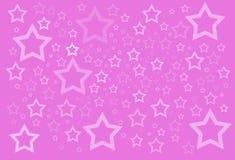Roze sterrenachtergrond Stock Fotografie