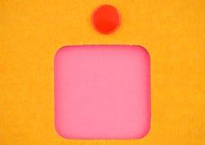 Roze sticker Stock Afbeeldingen