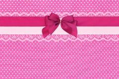 Roze stiptextiel Royalty-vrije Stock Afbeeldingen