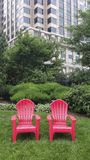 Roze stoelen Stock Foto's