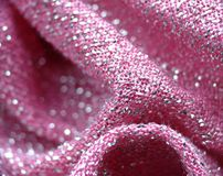 Roze stof Stock Foto's