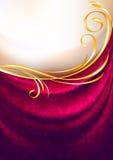 Roze stoffengordijn met ornament Stock Foto