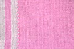 Roze stoffentextuur Royalty-vrije Stock Afbeelding