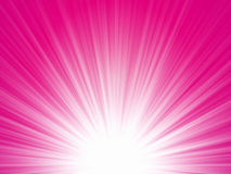 Roze stralenachtergrond Royalty-vrije Stock Foto's